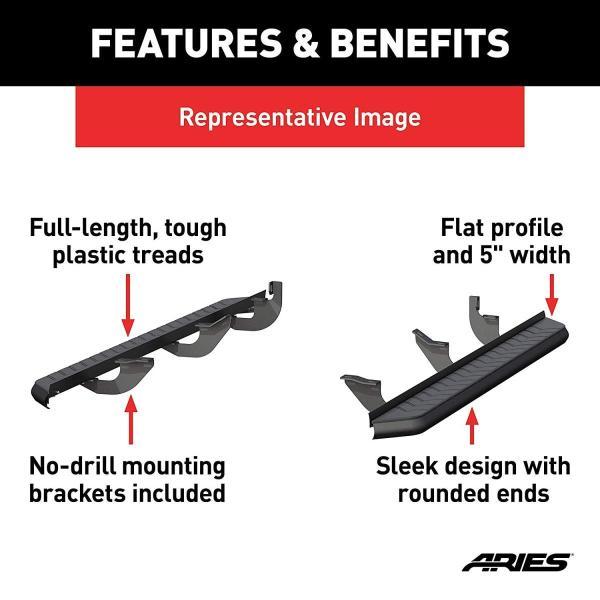 Aries 2061032 5 AeroTread Running Boards with Brackets