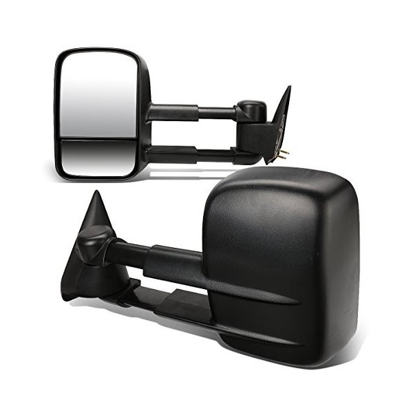 Driver /& Passenger Sides DNA MOTORING TWM-003-T111-BK Pair of Towing Side Mirrors