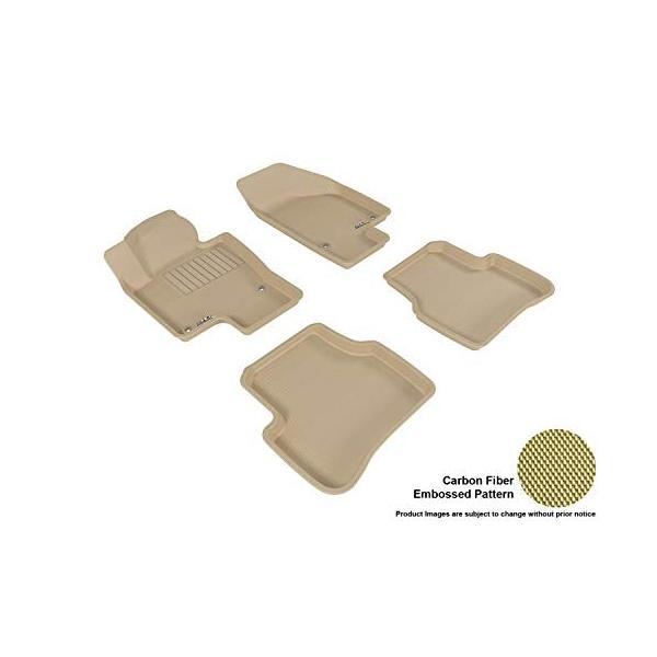 Kagu Rubber 3D MAXpider Complete Set Custom Fit All-Weather Floor Mat for Select Mercedes-Benz Models Tan