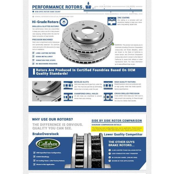 REAR 299.83mm D//S 5 Lug fit 2009 2010 2011 Audi A4 A5 Callahan CDS02525 FRONT 320mm Rotors 4