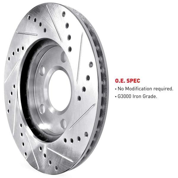 TT Quattro Front Rear Black Drill Slot Brake Rotors+Ceramic Pads For Audi TT