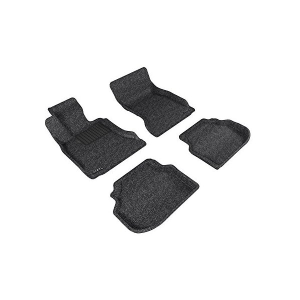 Classic Carpet 3D MAXpider Complete Set Custom Fit Floor Mat for Select Volkswagen Passat Models Gray