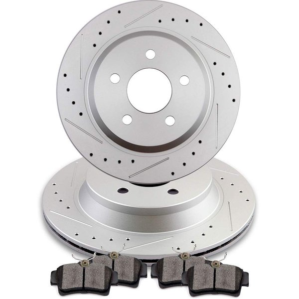Front Disc Rotors /& Ceramic Brake Pads Fits Volvo XC90