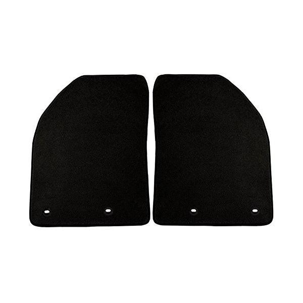 Black Coverking Custom Fit Front Floor Mats for Select Volvo C70 Models Nylon Carpet