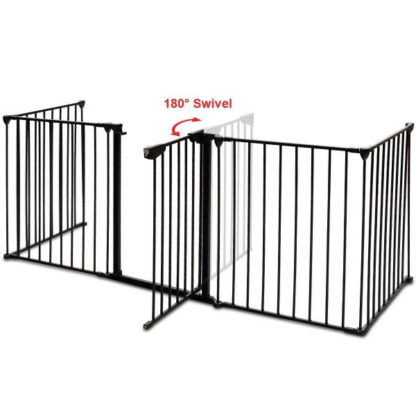 PETSJOY 5枚のパネルベビー&ペットセーフティゲート、暖炉安全柵、ハースBBQ|hal-proshop2|13