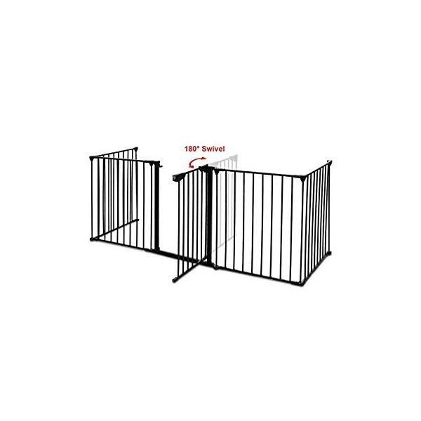 PETSJOY 5枚のパネルベビー&ペットセーフティゲート、暖炉安全柵、ハースBBQ|hal-proshop2|04