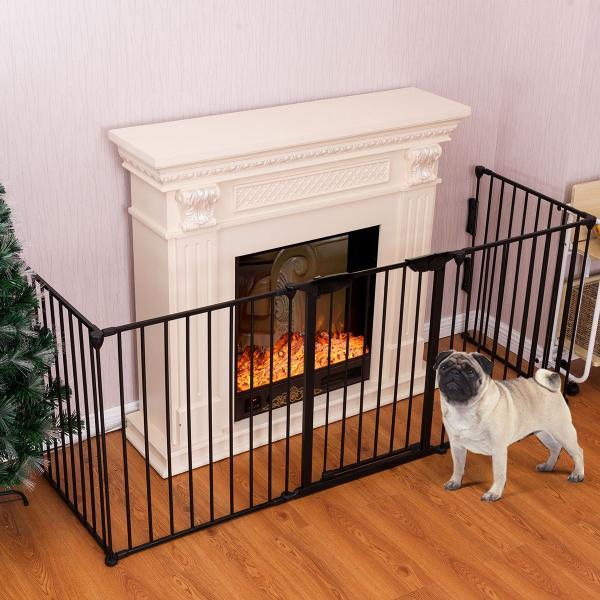 PETSJOY 5枚のパネルベビー&ペットセーフティゲート、暖炉安全柵、ハースBBQ|hal-proshop2|07