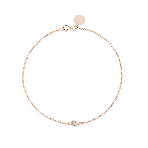 Solitaire Diamond Bracelet - Solid Yellow White Rose Gold -14K or 18Ka|hal-proshop2|02