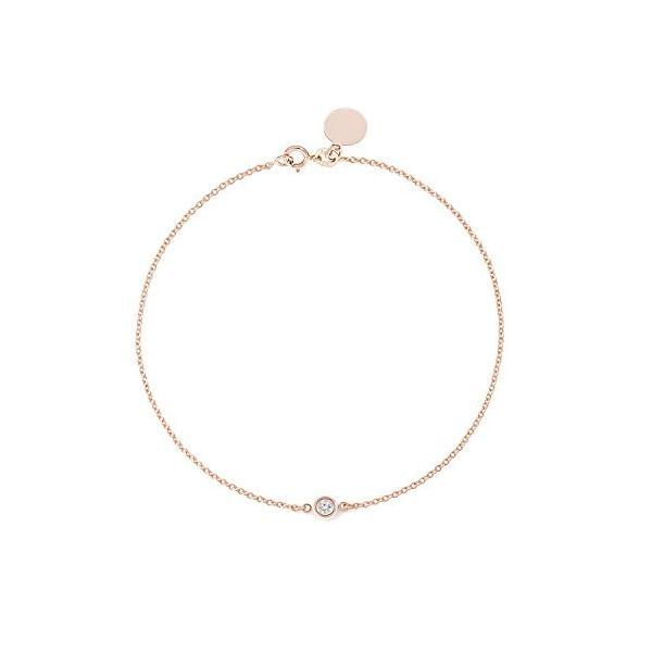 Solitaire Diamond Bracelet - Solid Yellow White Rose Gold -14K or 18Ka|hal-proshop2|03