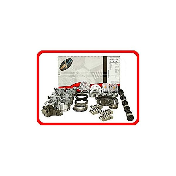 Master Engine Rebuild Kit FITS 1993-1995 Chevrolet SBC 350 5.7L V8 w//Stage-1 HP Cam /& Flat-Top Pistons