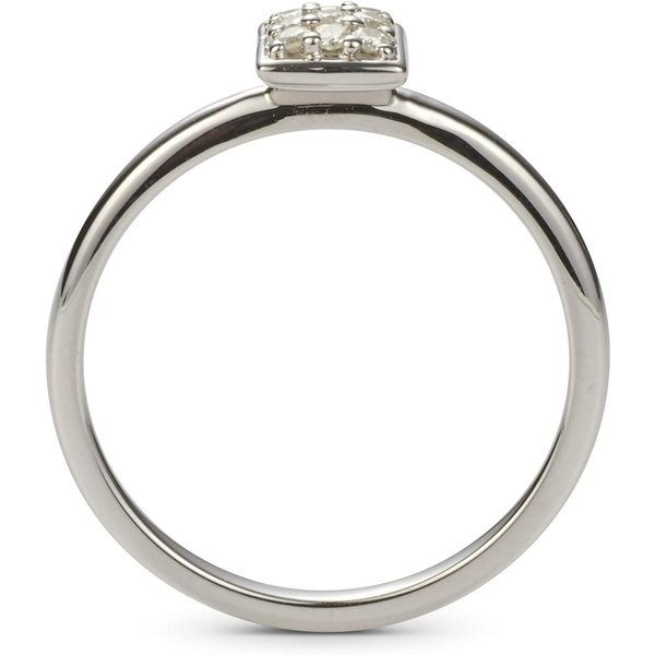 Charles /& Colvard Forever Classic 1.4mm Moissanite Square Pave Ring