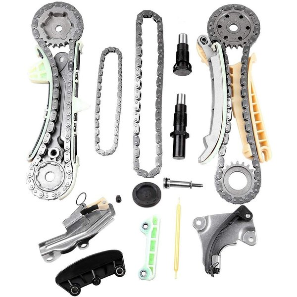 ROADFAR Timing Chain Kit Head Gasket Set with Water Pump for Ford Explorer 4.0L 2000-2003