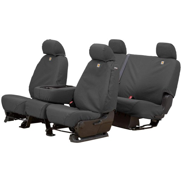 Covercraft Carhartt SeatSaver Second Row Custom Fit Seat Cover for Select Ford E-150//E-350 Super Duty Models Duck Weave Gravel