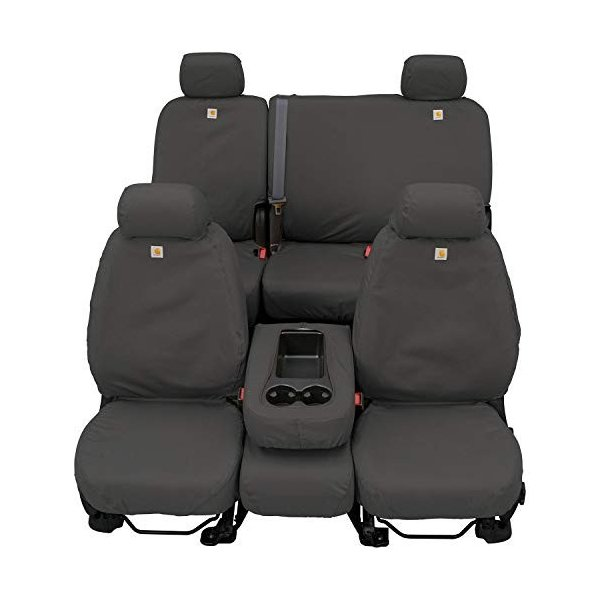 Gravel Duck Weave Covercraft Carhartt SeatSaver Second Row Custom Fit Seat Cover for Select Ford F-150 Models