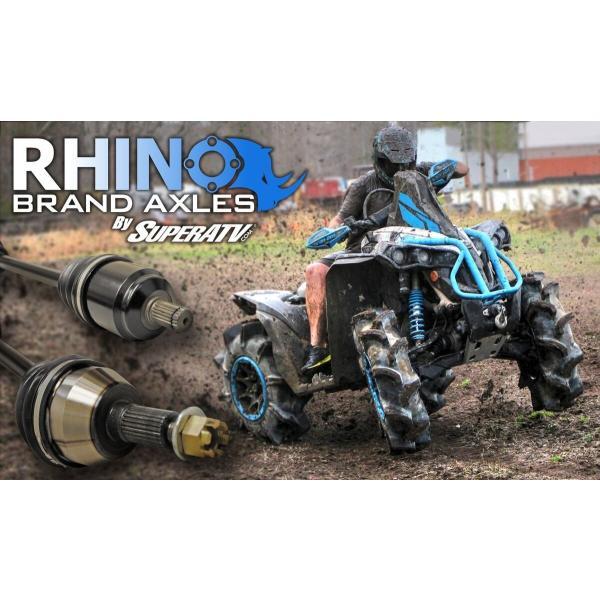 2018+ SuperATV Rhino Brand Heavy Duty REAR Axle for Polaris RZR XP Turbo S