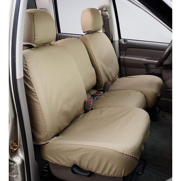 Covercraft SeatSaver Front Row Custom Fit Seat Cover for Select Ram Pickup Models Waterproof Grey