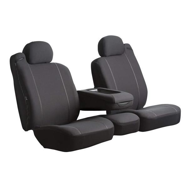 Poly-Cotton, Black Fia SP89-40 BLACK Custom Fit Front Seat Cover Split Seat 40//20//40