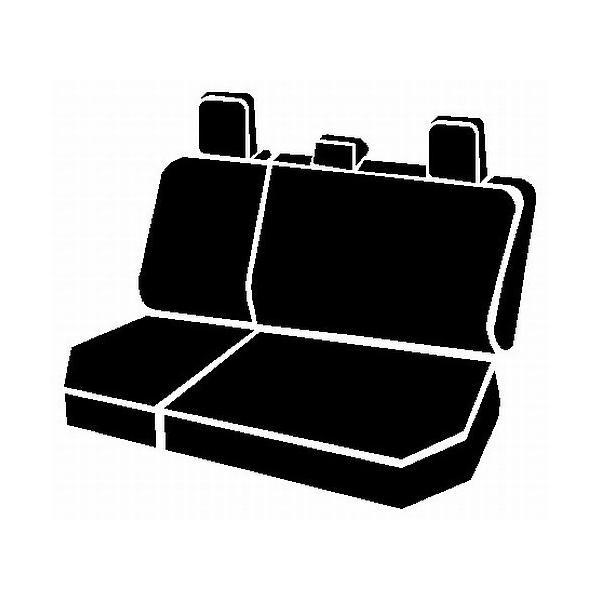 FIA NP92-24 Black with Gray Cover Rear Split Seat 60//40//Neoprene Center Panel
