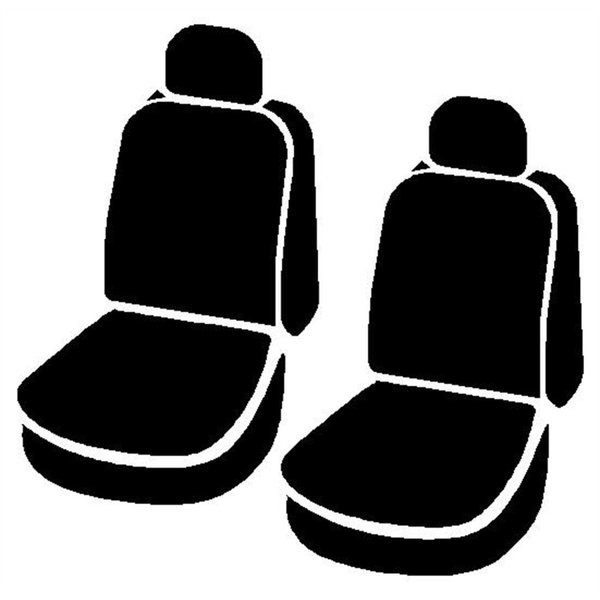 Front Bucket Seats-Poly-Cotton, Black FIA SP89-55 Custom Fit Cover