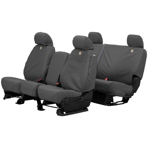 Gravel Covercraft Carhartt SeatSaver Front Row Custom Fit Seat Cover for Select Toyota Tundra Models Duck Weave