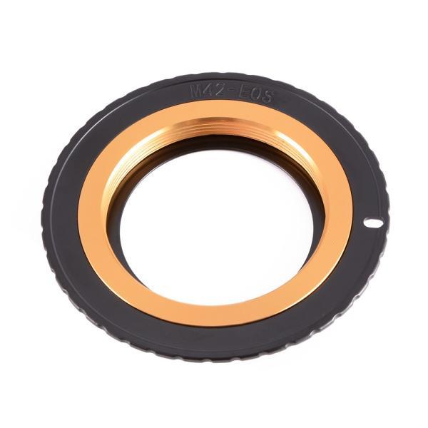 M42→Canon EOSカメラ変換 レンズアダプター EMF AF確認チップ付き アパーチャ調整可能 XCSOURCE