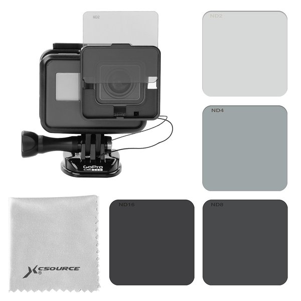 GoPro Hero5 フィルター 裸カメラ専用 ND2ND4ND8ND16スイッチ式 四枚セット XCSOURCE