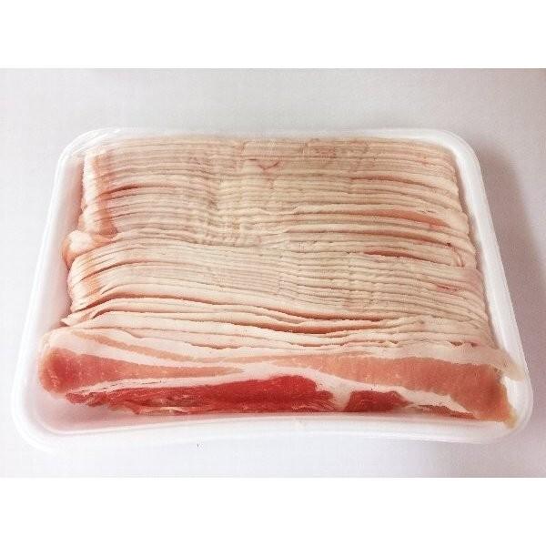 国産 豚バラ 1.3mm スライス たっぷり 1kg|halla-mart|02