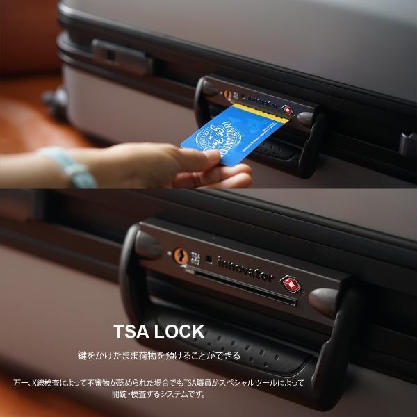 イノベーター スーツケース INV58T 限定色 Mサイズ 60L 4〜5日 フレームタイプ innovator メーカ―直送|haloaboxart|02