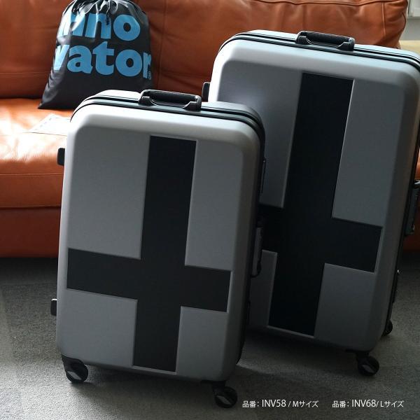 イノベーター スーツケース INV58T 限定色 Mサイズ 60L 4〜5日 フレームタイプ innovator メーカ―直送|haloaboxart|07