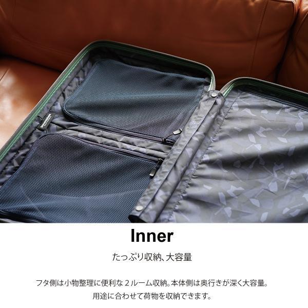 イノベーター スーツケース INV70 Mサイズ 75L 6〜7日用 ファスナータイプ エクストリーム innovator メーカ―直送|haloaboxart|05