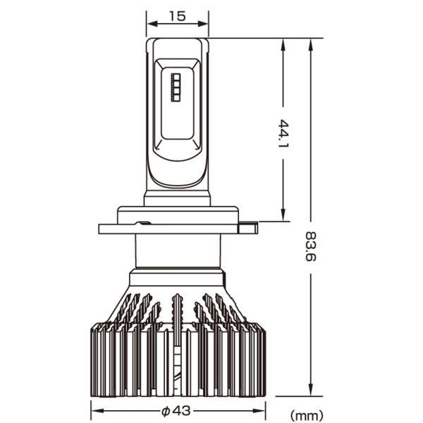 LEDヘッドランプバルブ プレシャス・レイ H7 DAYTONA(デイトナ)|hamashoparts|02