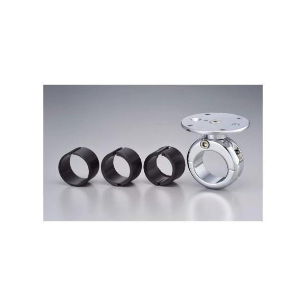 【セール特価】ハンドルバーマウント ベーシックモデル 7/8(22mm)、1(25mm)、1-1/8(28mm)、1-1/4(32mm) クローム TECH MOUNT(テックマウント) hamashoparts