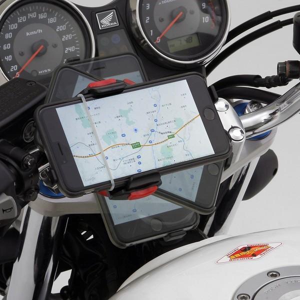 【あすつく対象】バイク用スマートフォンホルダーWIDE(iPhone5・6・6Plus・7・7Plus・8・8plus・X対応)クイックタイプ iH-250D DAYTONA(デイトナ)|hamashoparts|02