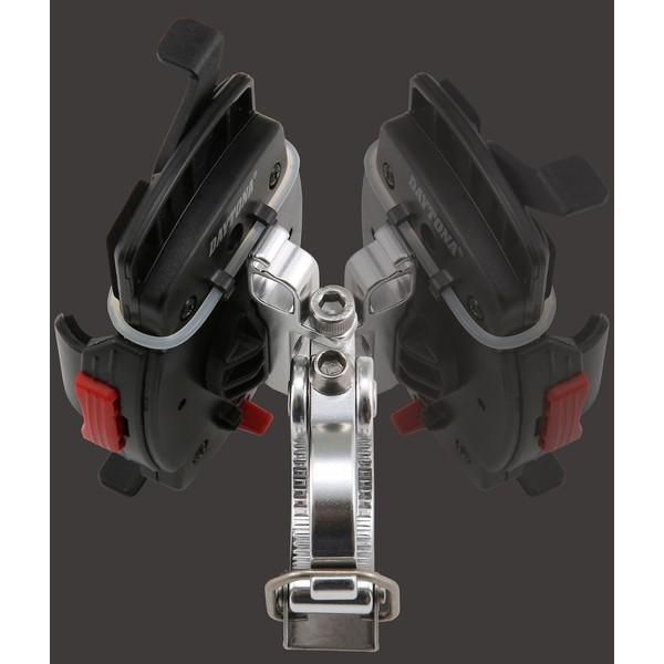 【あすつく対象】バイク用スマートフォンホルダーWIDE(iPhone5・6・6Plus・7・7Plus・8・8plus・X対応)クイックタイプ iH-250D DAYTONA(デイトナ)|hamashoparts|04