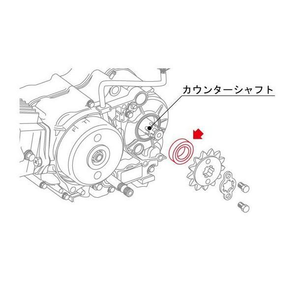 カウンターシャフト用オイルシール OSH-02 モンキー/ゴリラ/スーパーカブ/エイプ系エンジン用 KITACO(キタコ)|hamashoparts|02
