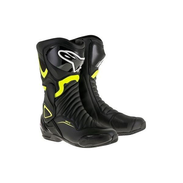SMX6 レースブーツ ブラック/蛍光イエロー 42/26.5cm アルパインスターズ(alpinestars)|hamashoparts