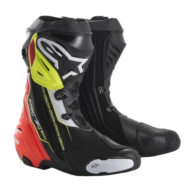 スーパーテックR ブーツ ブラック/レッド/イエローFLUO 43/27.5cm アルパインスターズ(alpinestars)|hamashoparts