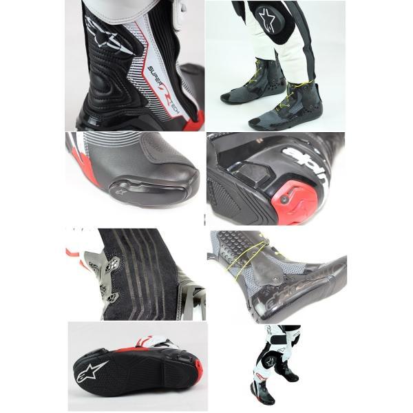 スーパーテックR ブーツ ブラック/イエローFLUO/ホワイト 42/26.5cm アルパインスターズ(alpinestars)|hamashoparts|02