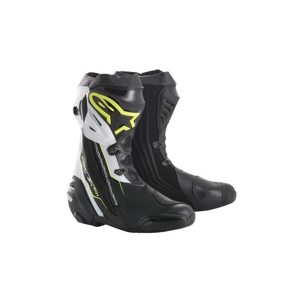 スーパーテックR ブーツ ブラック/イエローFLUO/ホワイト 43/27.5cm アルパインスターズ(alpinestars) hamashoparts