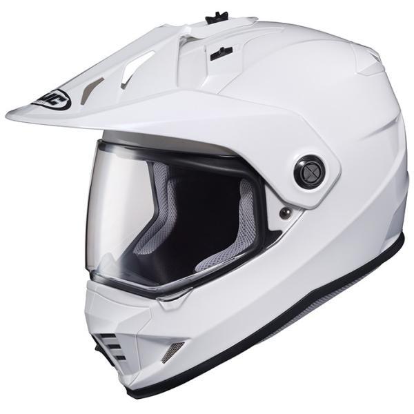 HJH133 DS-X1 ソリッド オフロードヘルメット ホワイト XLサイズ HJC|hamashoparts