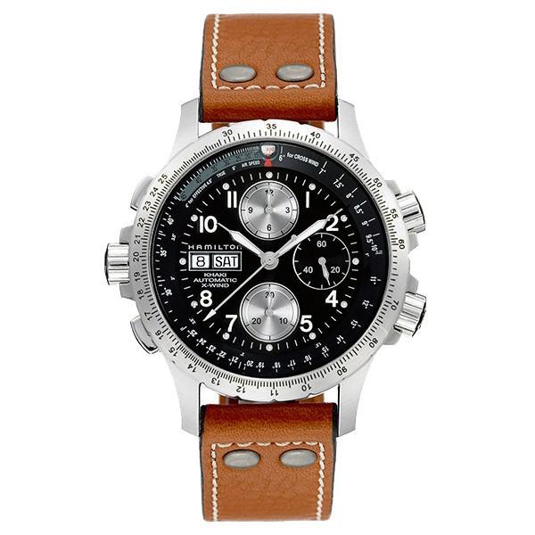 76e48dfdc9 ... Hamilton ハミルトン 公式 腕時計 Khaki X-Wind カーキ アビエーション X-ウィンド メンズ レザー H77616533  ...
