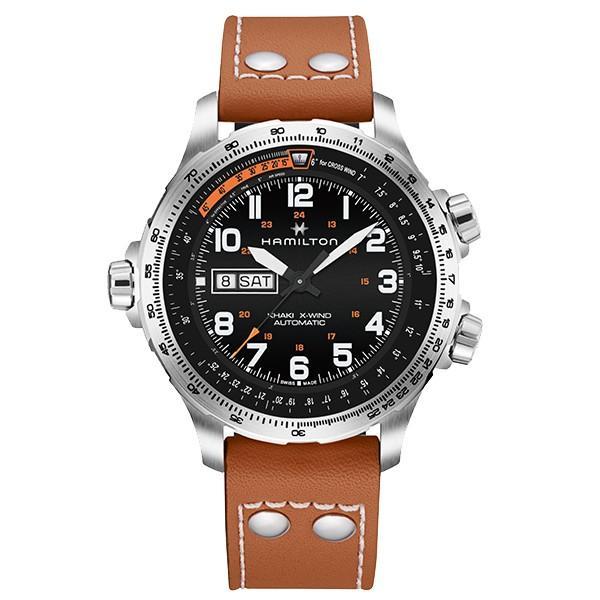 86be554ef3 ... ハミルトン 公式 腕時計 Hamilton Khaki X-Wind Day Date カーキ アビエーション デイデイト メンズ レザー 