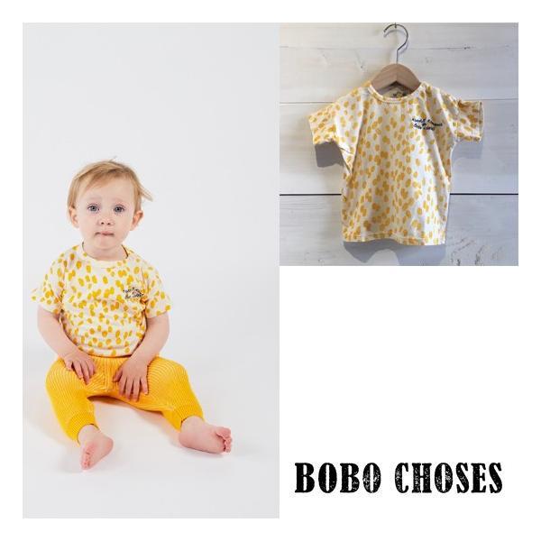 BOBO CHOSES(ボボショーズ、ボボショセス) Animal Print  T-shirt   子供服/Tシャツ SIZE12-18M/18-24M  日本総輸入代理店より入荷