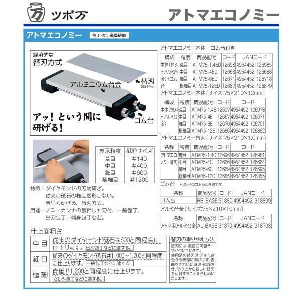 砥石 ツボ万 ダイヤモンド砥石 アトマ 替刃 極細目|hamono-sanshodo|03