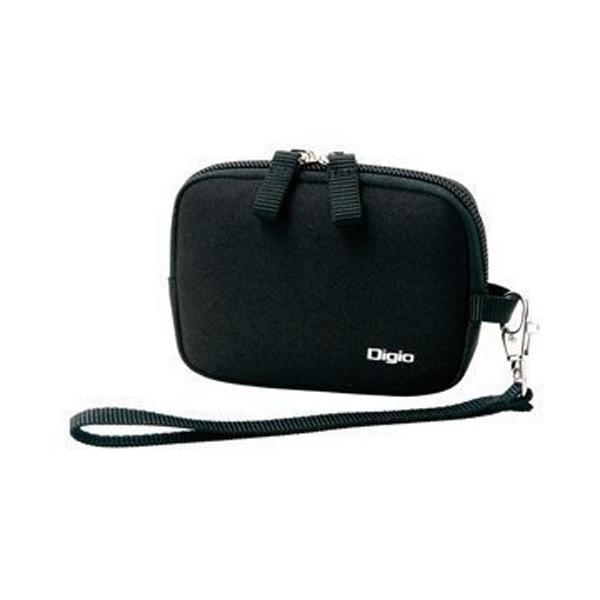 Digio デジタルカメラケース ハンドストラップ付 ブラック DCC-046BK