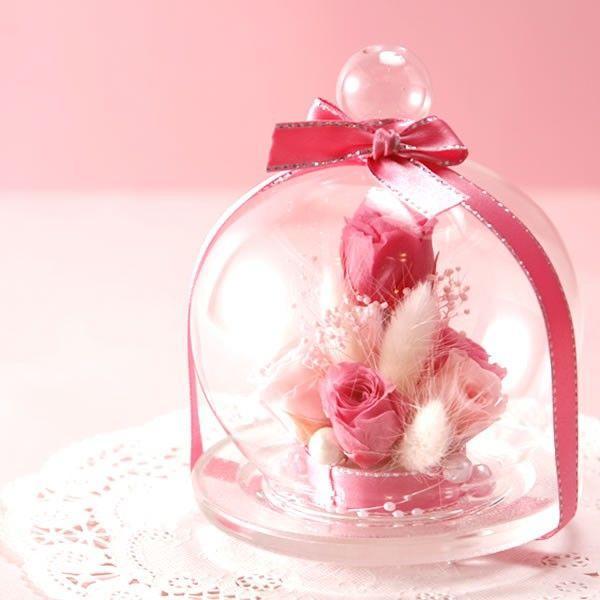 母の日ギフト プレゼント 女性 花 プリザーブドフラワー  スイーツ ガラスドーム|hana-collabo|02