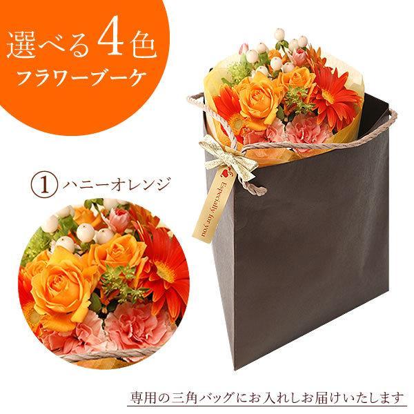 誕生日 プレゼント 贈り物 アレンジメント ギフト 花束 切花 花とスイーツ 生花|hana-collabo|06