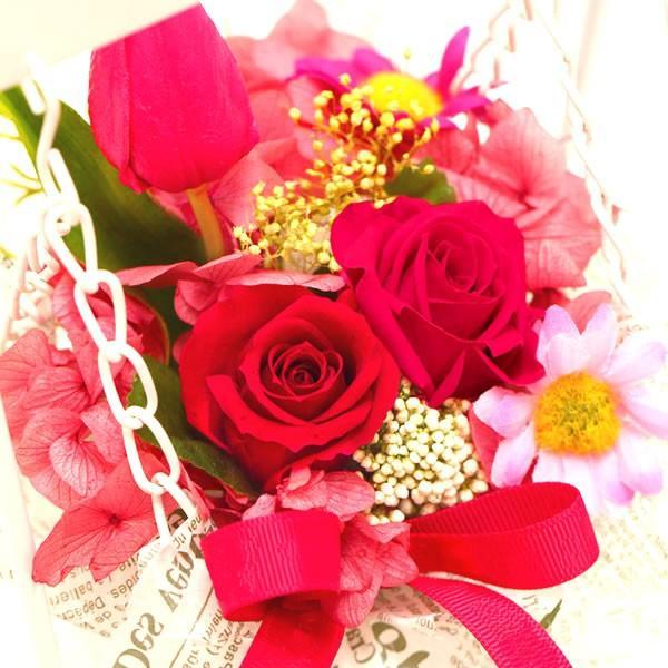誕生日 ギフト プレゼント プリザーブドフラワー 女性 母 花とスイーツ アレンジ 結婚祝い 贈り物 hana-collabo 02
