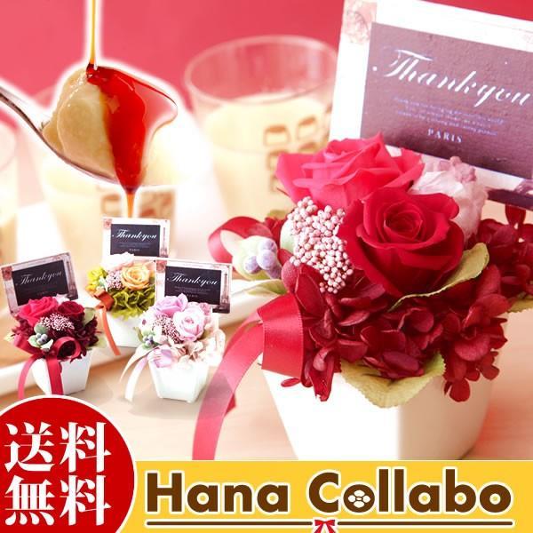 母の日 プレゼント プリザーブドフラワー 女性 母 花 結婚祝い ギフト アレンジ スイーツ hana-collabo