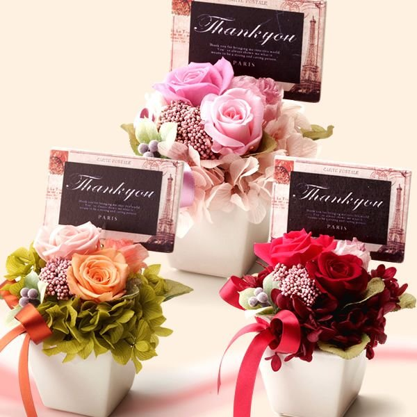 母の日 プレゼント プリザーブドフラワー 女性 母 花 結婚祝い ギフト アレンジ スイーツ hana-collabo 02